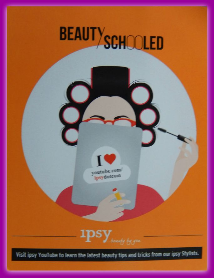 August 2014 Ipsy Card